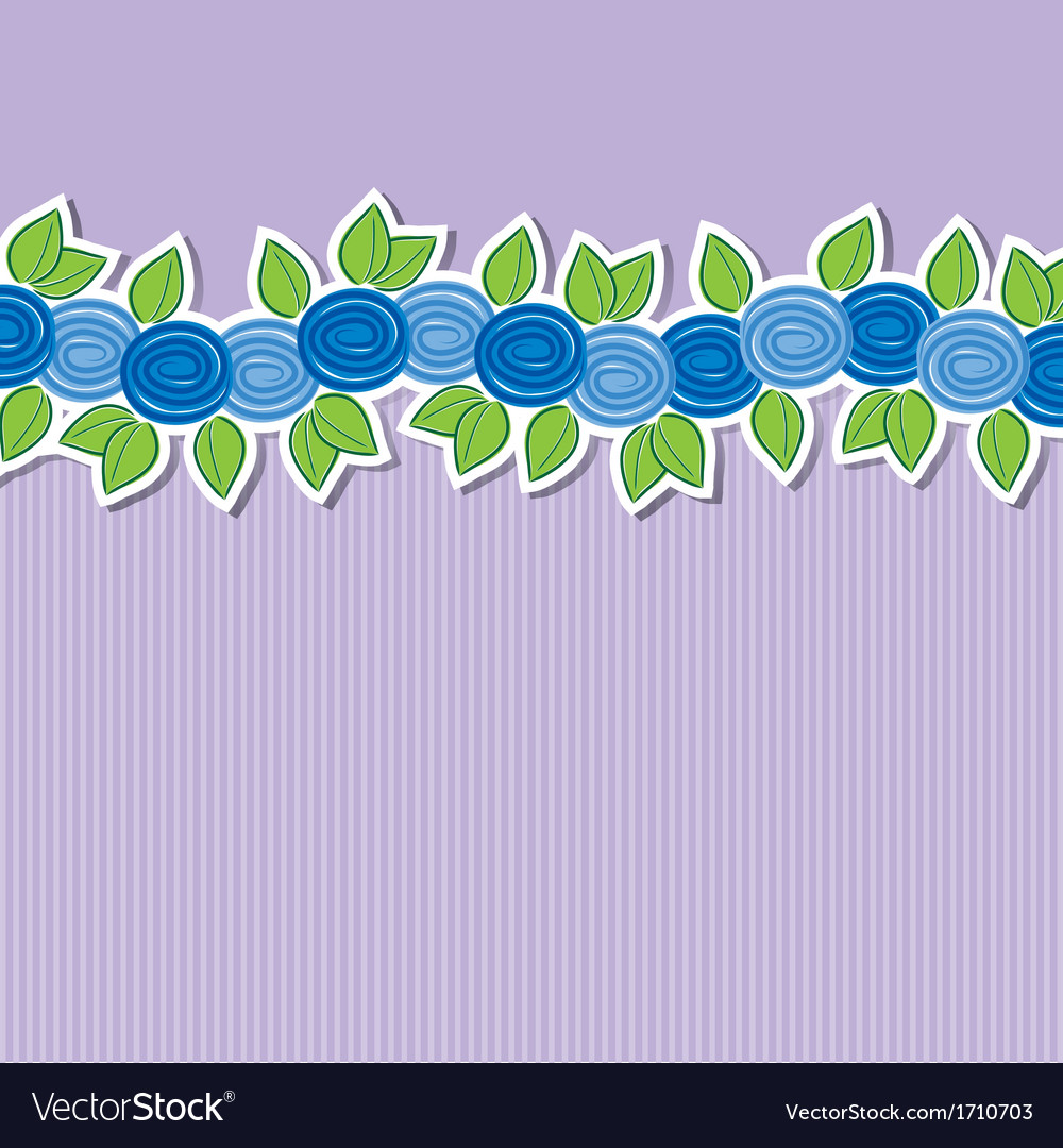 Rose banner card in format vector | Price: 1 Credit (USD $1)