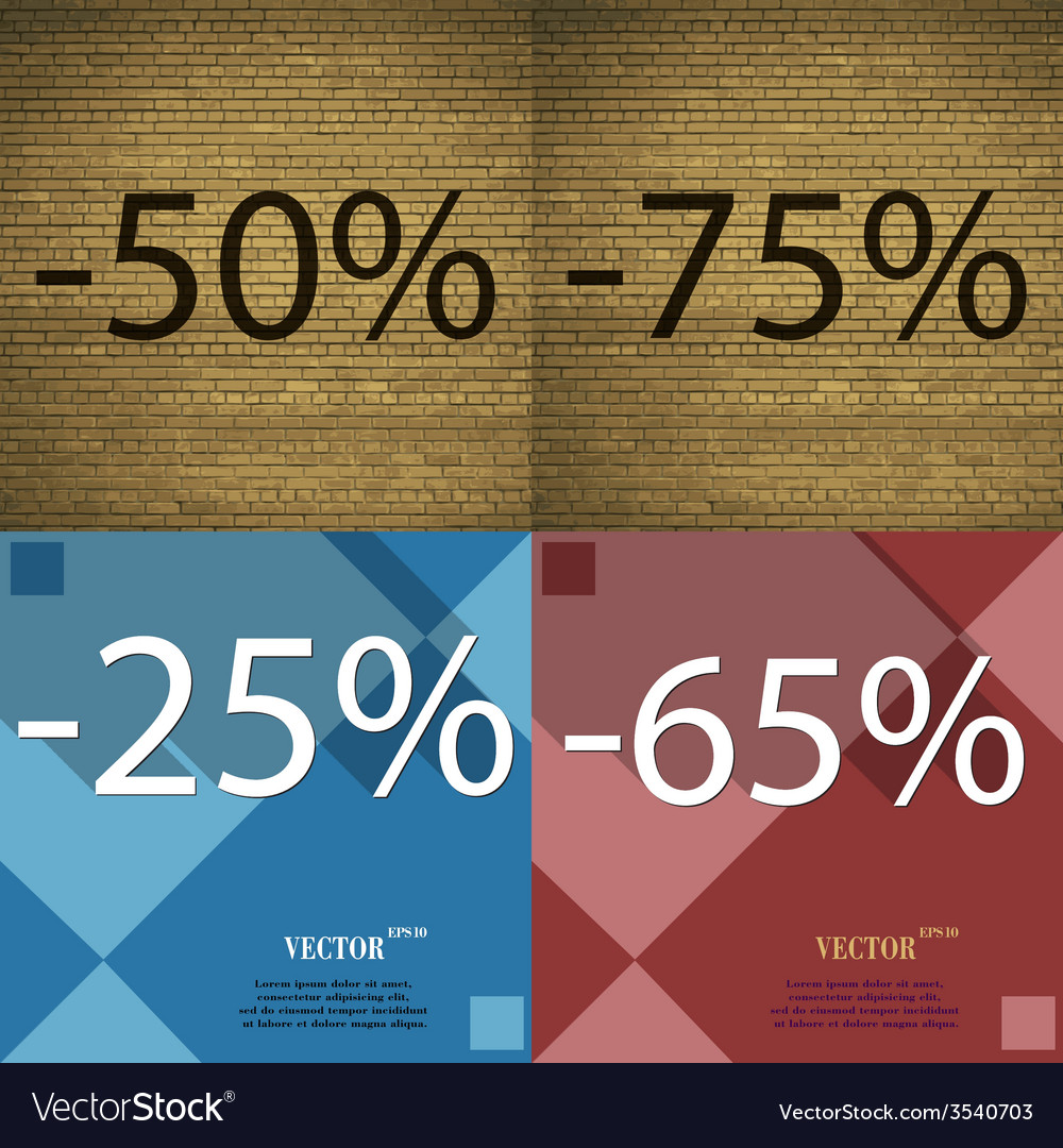 Set of holiday discounts store a percentage of vector   Price: 1 Credit (USD $1)
