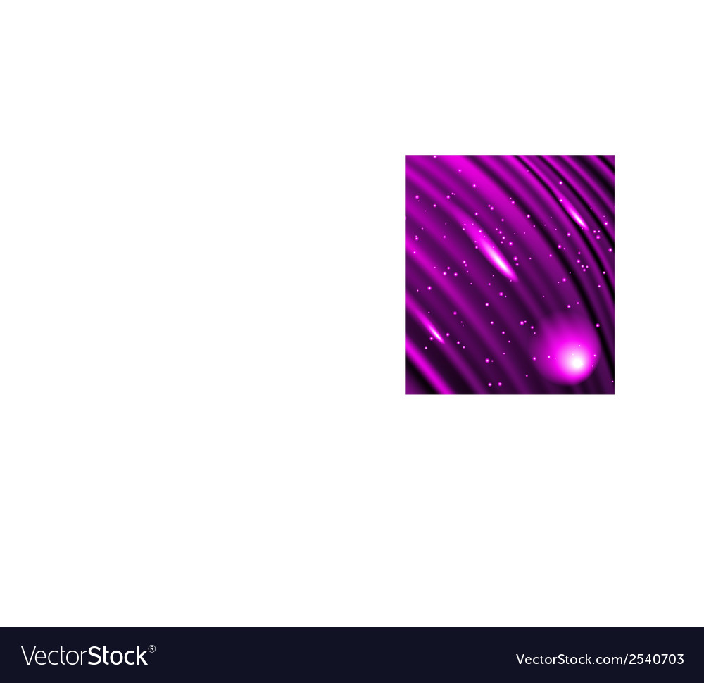Stars are falling on the background of purple rays vector | Price: 1 Credit (USD $1)