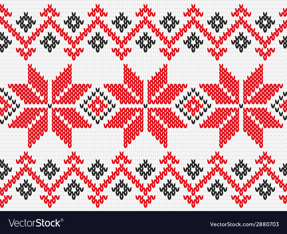 Ukrainian ornament knitting seamless texture vector | Price: 1 Credit (USD $1)