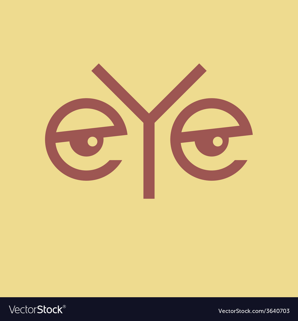 Word eye vector | Price: 1 Credit (USD $1)
