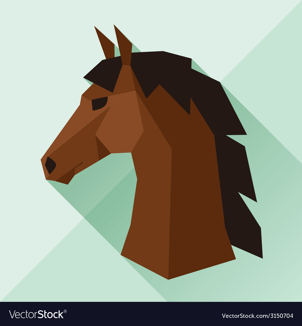 Background with horse head in flat style vector | Price: 1 Credit (USD $1)