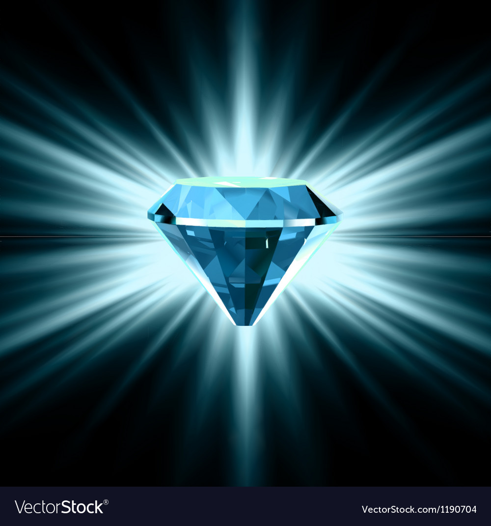 Beautiful blue crystal background vector | Price: 1 Credit (USD $1)