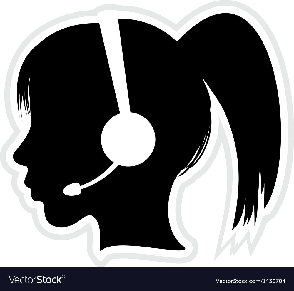 Call center executive icon vector | Price: 1 Credit (USD $1)