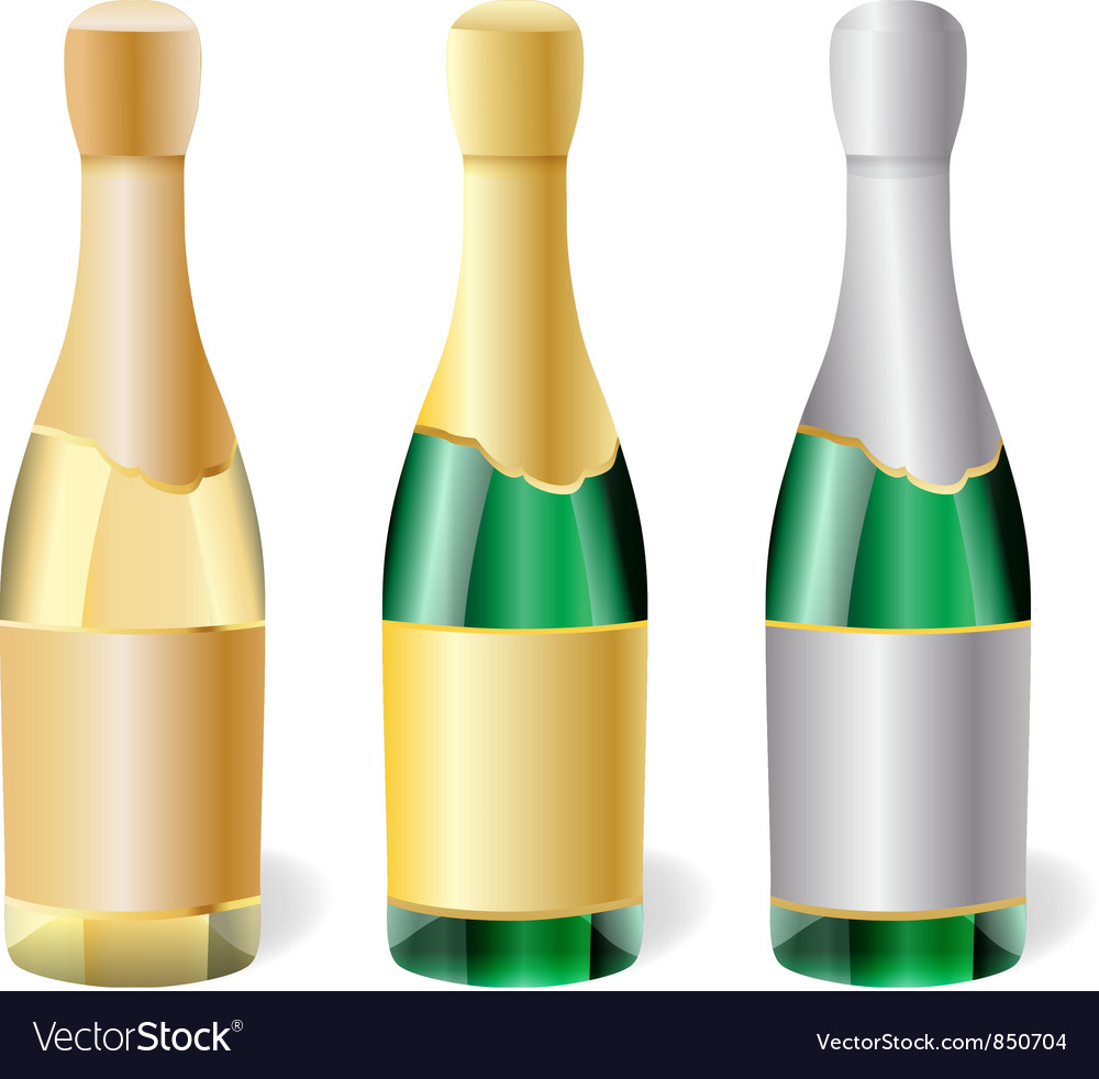 Champagne bottles vector | Price: 1 Credit (USD $1)