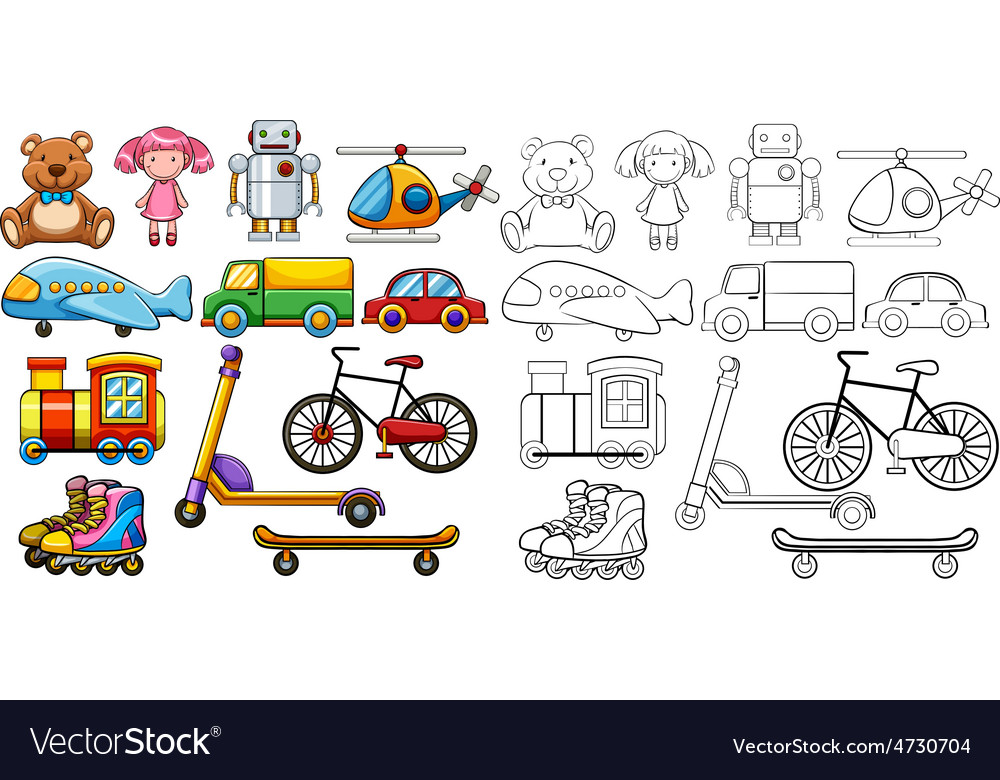 Classic toys vector | Price: 3 Credit (USD $3)