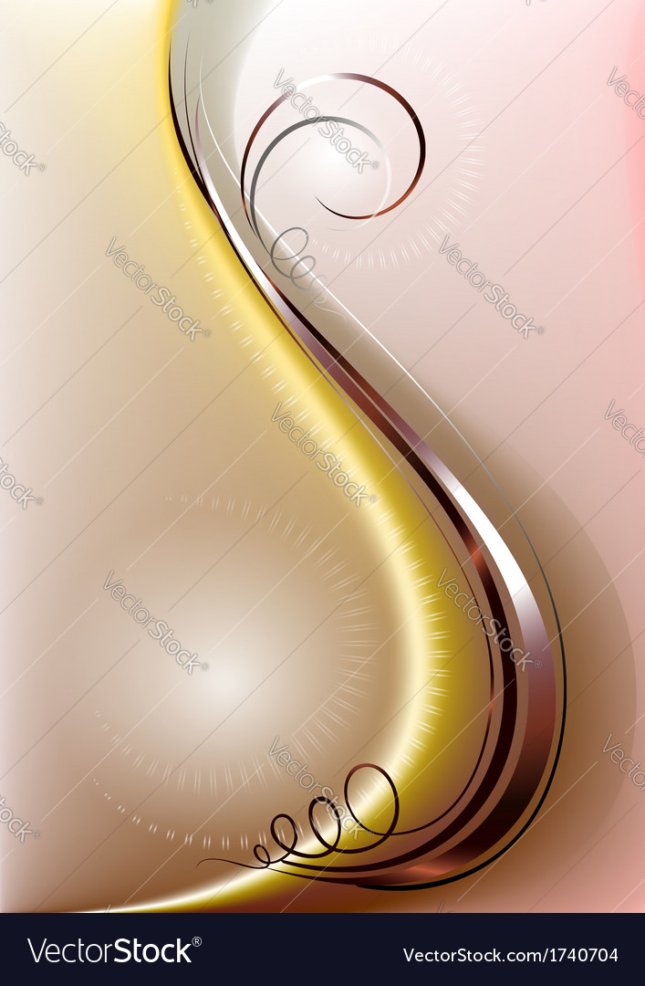 Copper strip with elegant curlicues vector | Price: 1 Credit (USD $1)