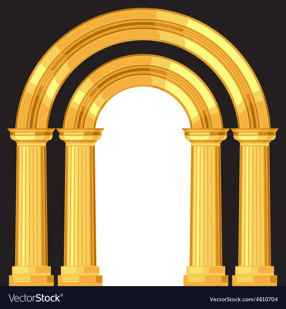 Doric realistic antique greek arch with columns vector | Price: 1 Credit (USD $1)