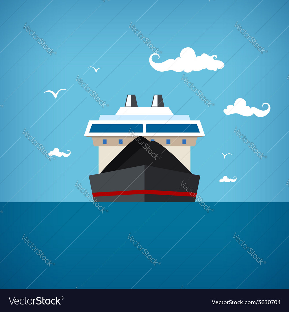 Dry cargo ship vector | Price: 1 Credit (USD $1)