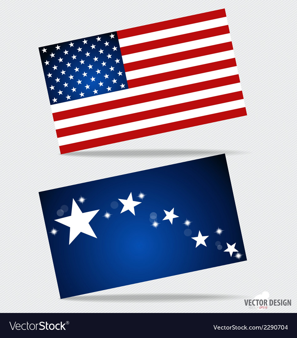 Happy independence day card united states of vector | Price: 1 Credit (USD $1)