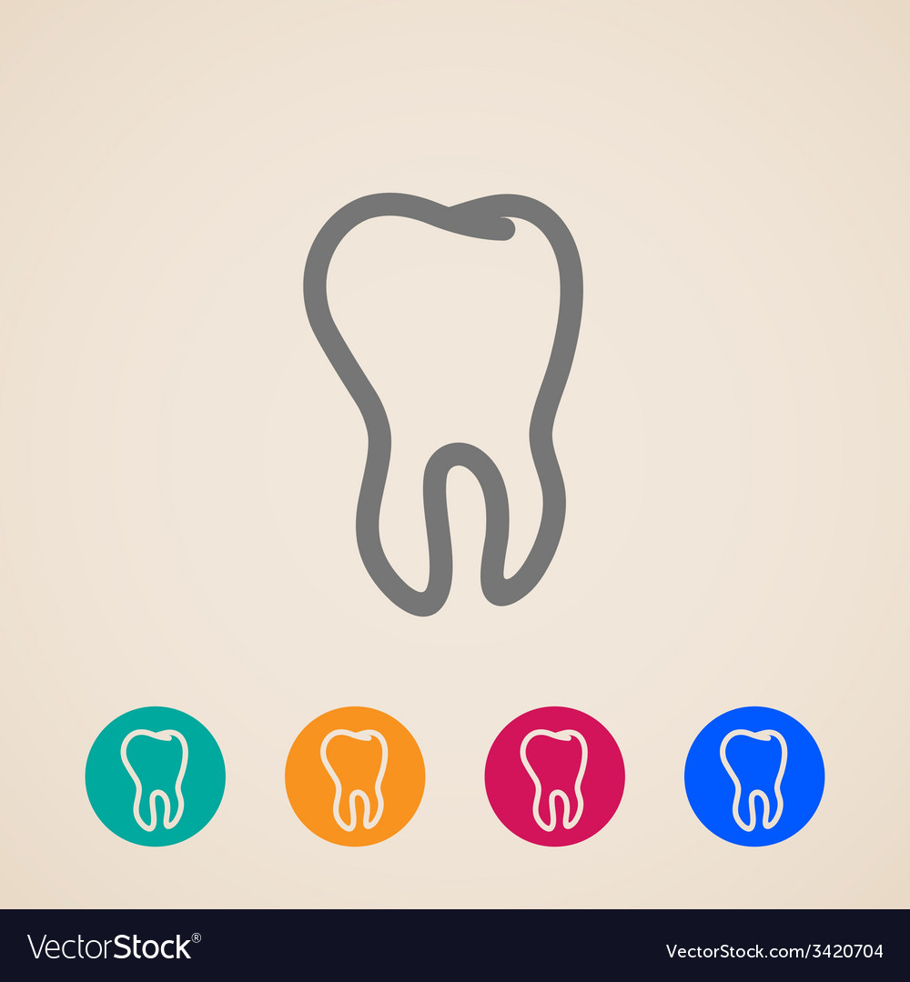 Icons with a tooth vector | Price: 1 Credit (USD $1)
