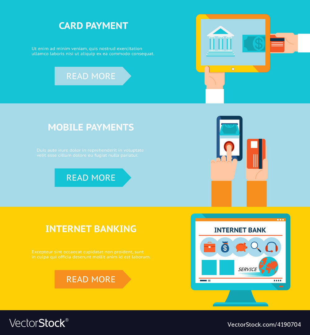 Internet banking and mobile payments vector | Price: 1 Credit (USD $1)