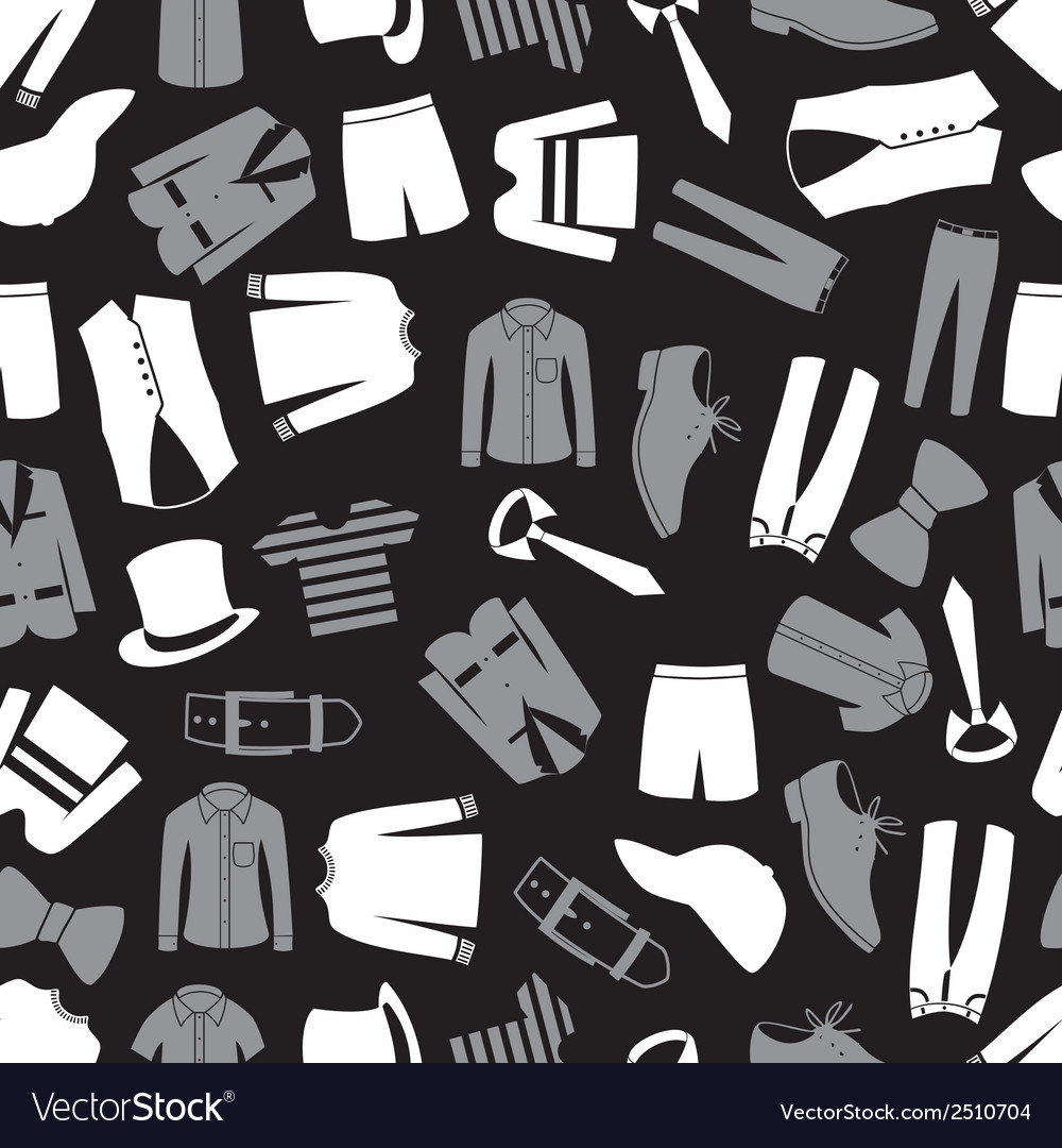 Mens clothing seamless pattern eps10 vector | Price: 1 Credit (USD $1)