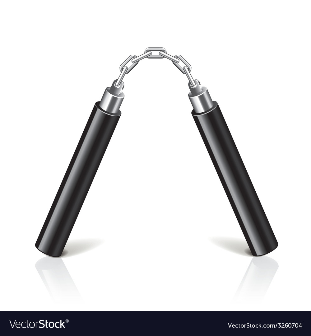 Nunchuck isolated vector | Price: 1 Credit (USD $1)
