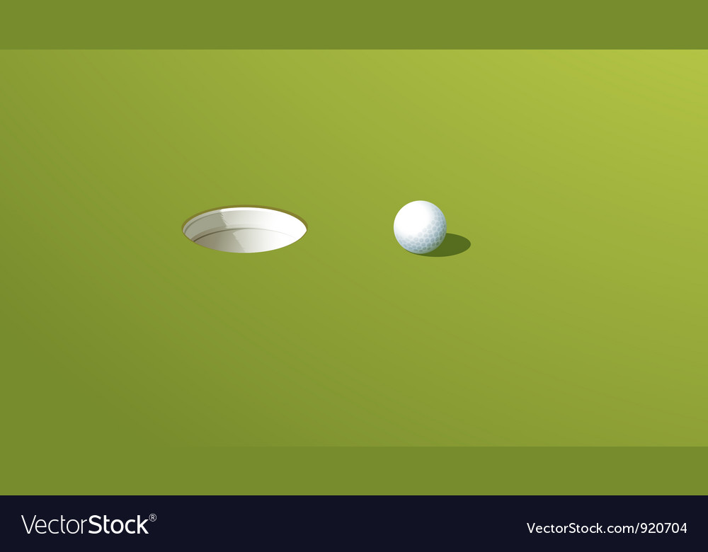 Putting green vector