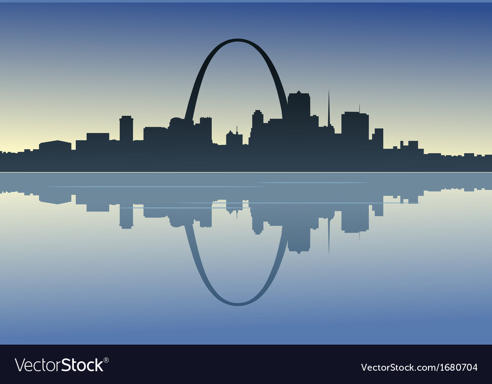 Saint louis downtown riverfront vector | Price: 1 Credit (USD $1)