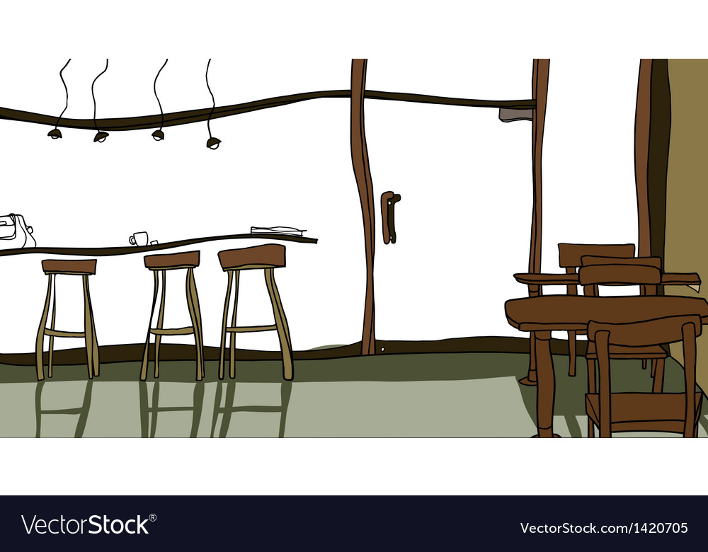 Cafe interior background vector | Price: 1 Credit (USD $1)