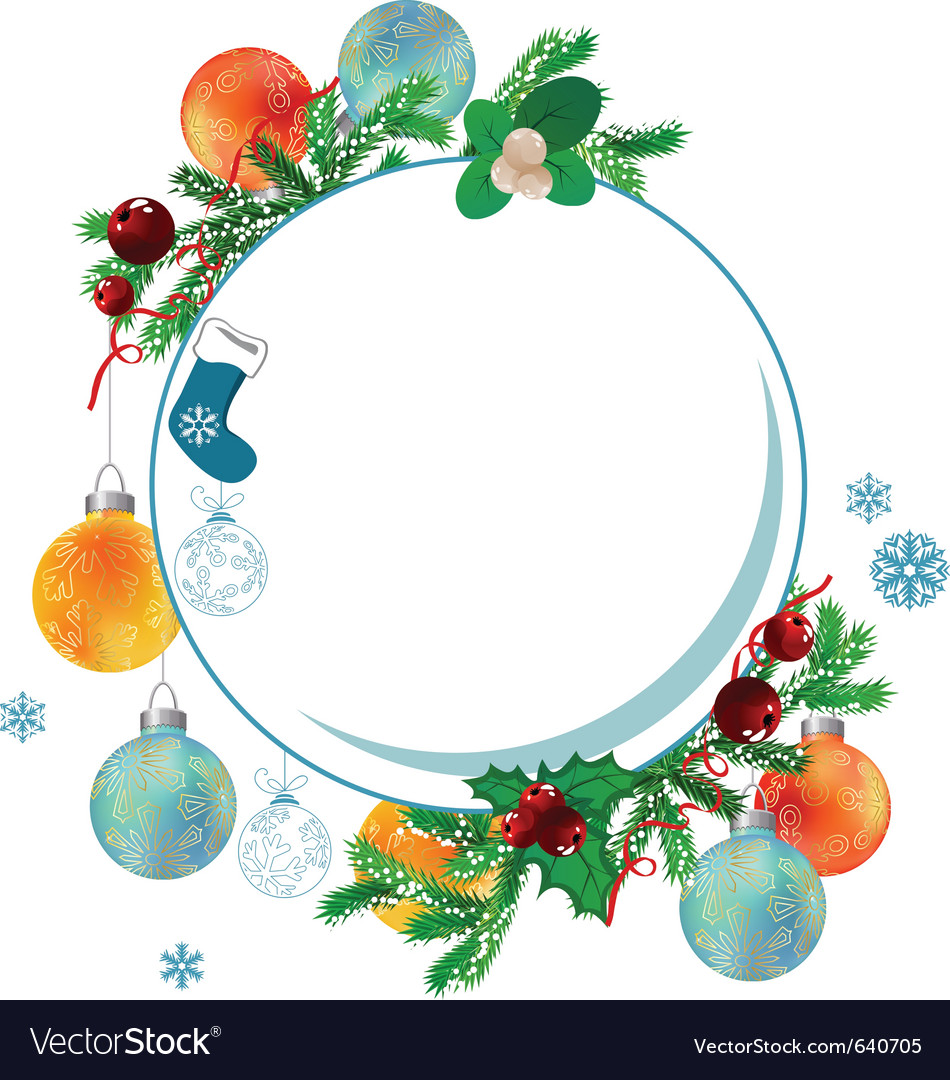 Christmas frame vector | Price: 3 Credit (USD $3)
