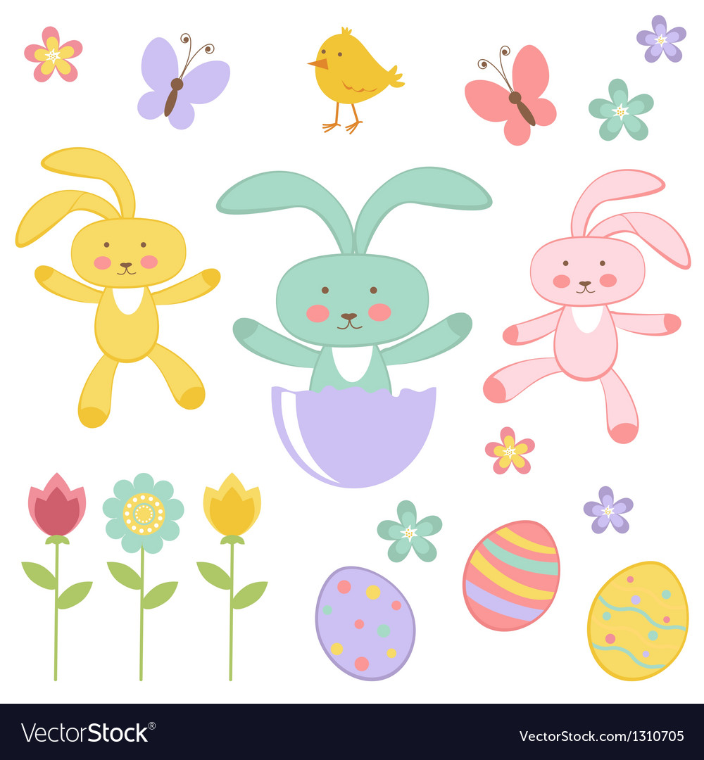 Easter collection vector | Price: 1 Credit (USD $1)