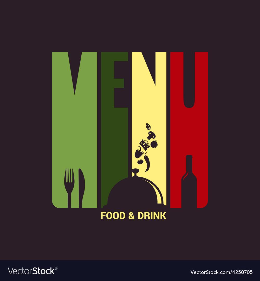 Food and drink menu label design background vector | Price: 1 Credit (USD $1)