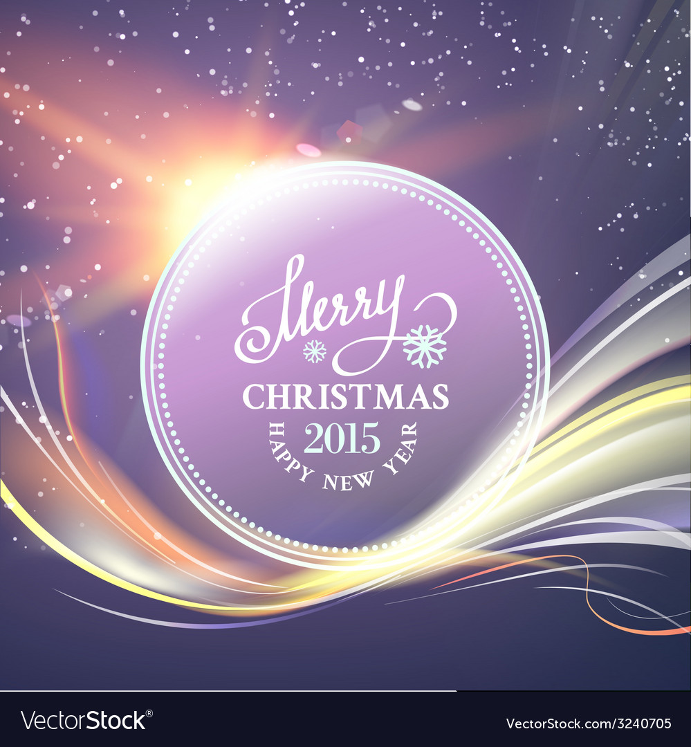 Futuristic christmas card vector | Price: 1 Credit (USD $1)