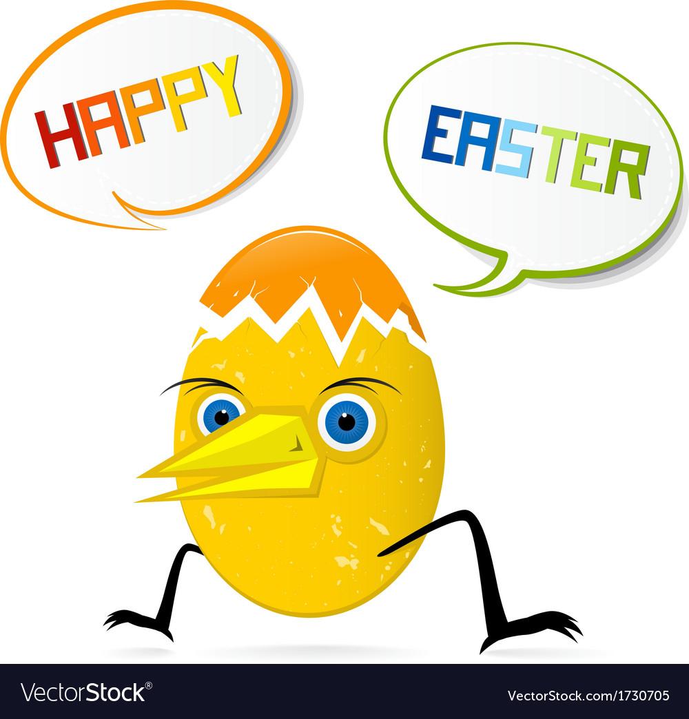 Happy egg vector | Price: 1 Credit (USD $1)