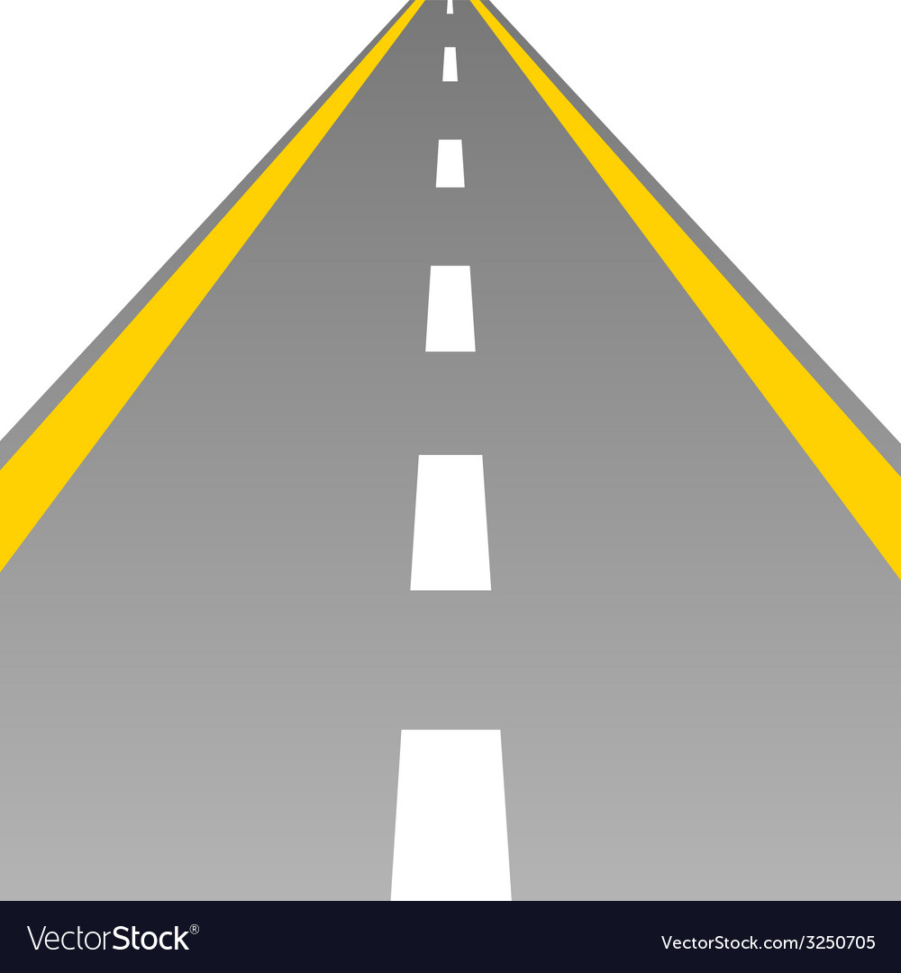Road with a broken white stripe vector | Price: 1 Credit (USD $1)