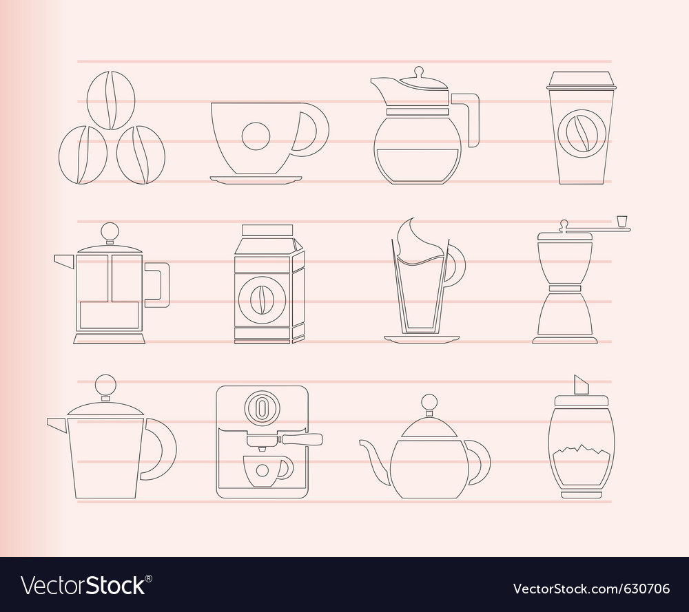 Coffee industry signs vector | Price: 1 Credit (USD $1)