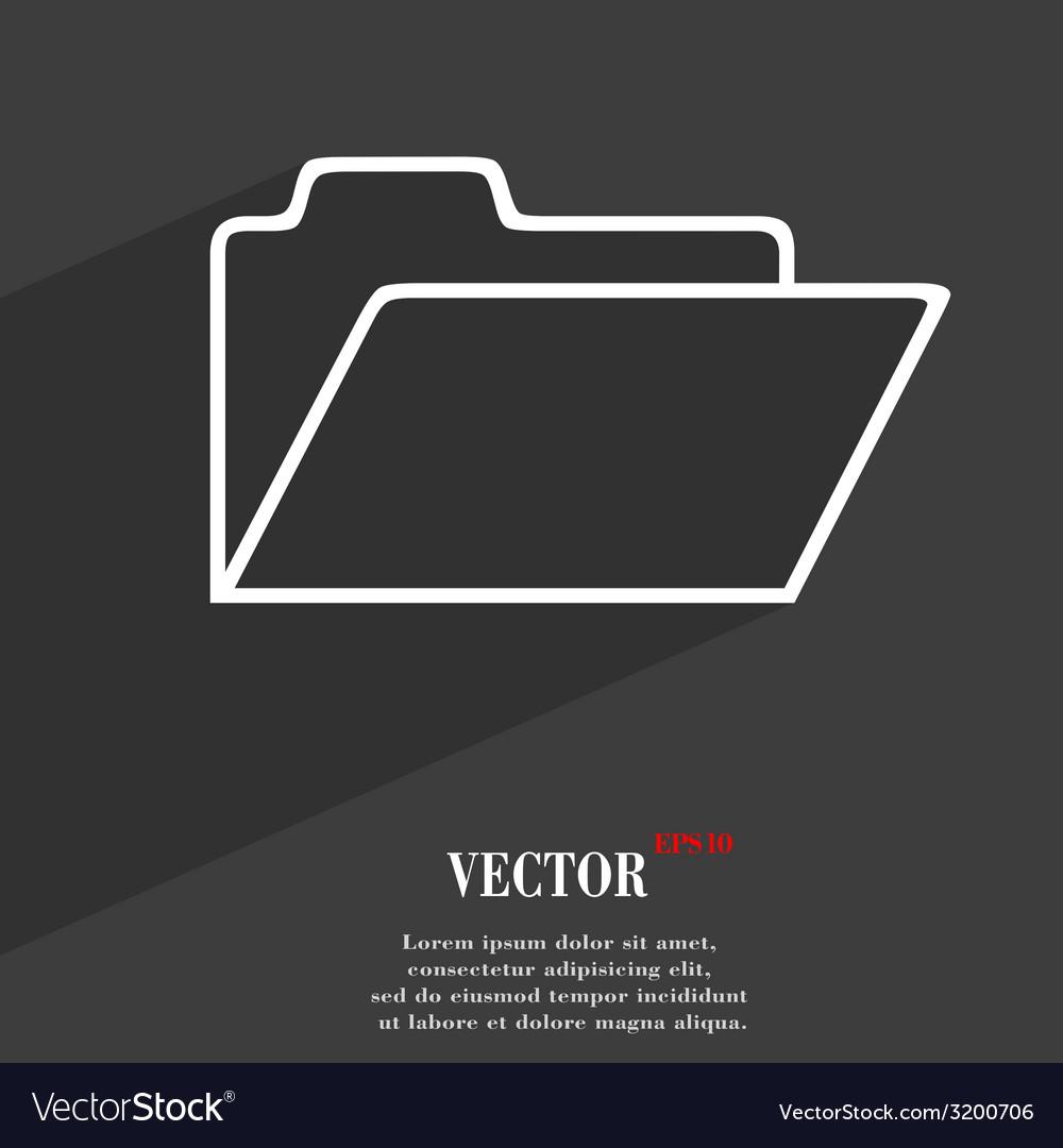 Document folder icon symbol flat modern web design vector   Price: 1 Credit (USD $1)