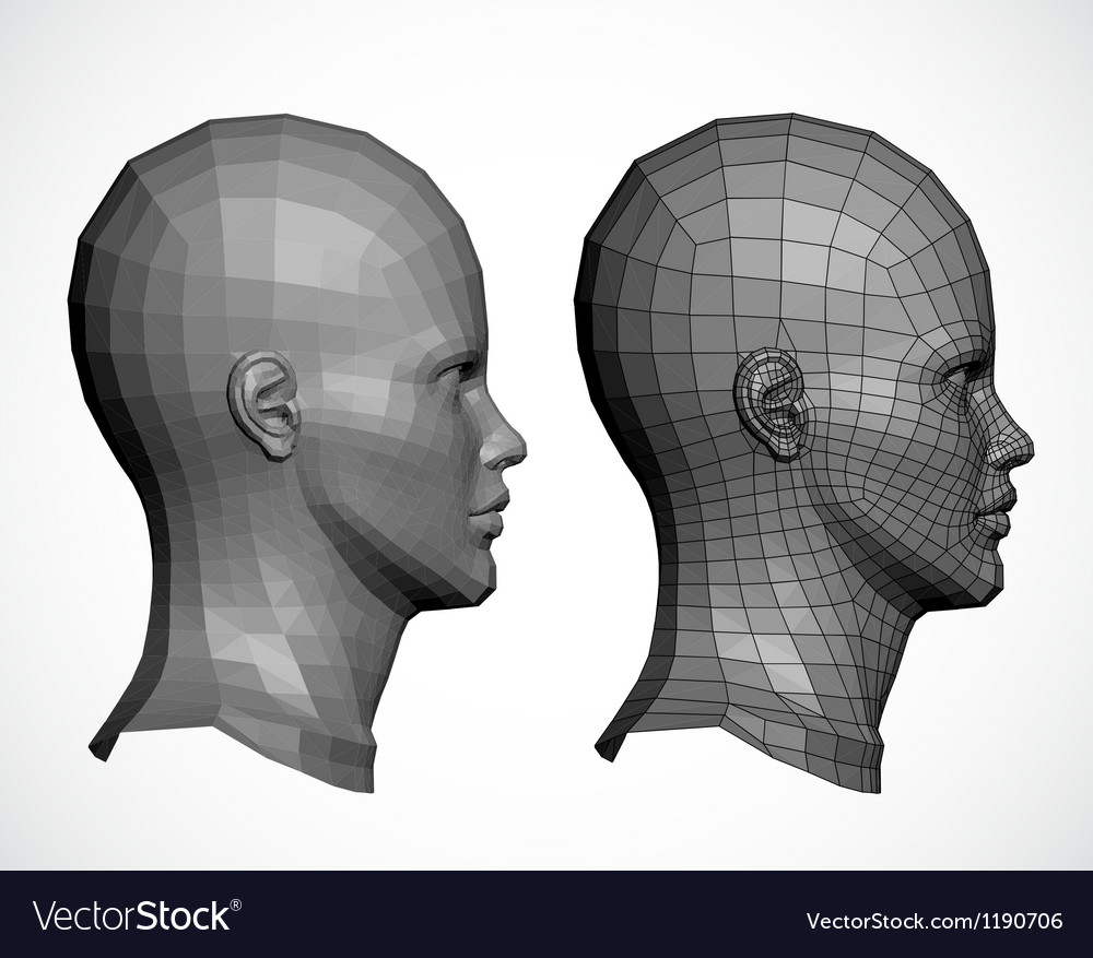 Female head in profile vector