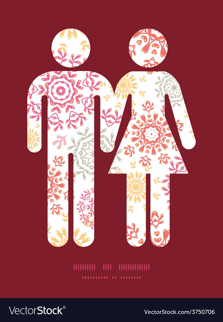 Folk floral circles abstract couple in love vector   Price: 1 Credit (USD $1)