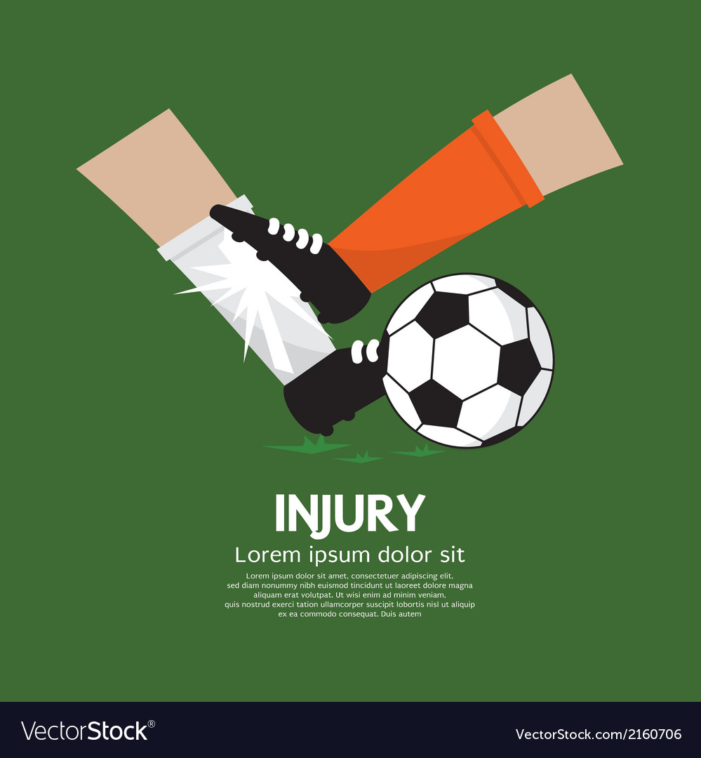 Football player make injury to an opponent vector | Price: 1 Credit (USD $1)
