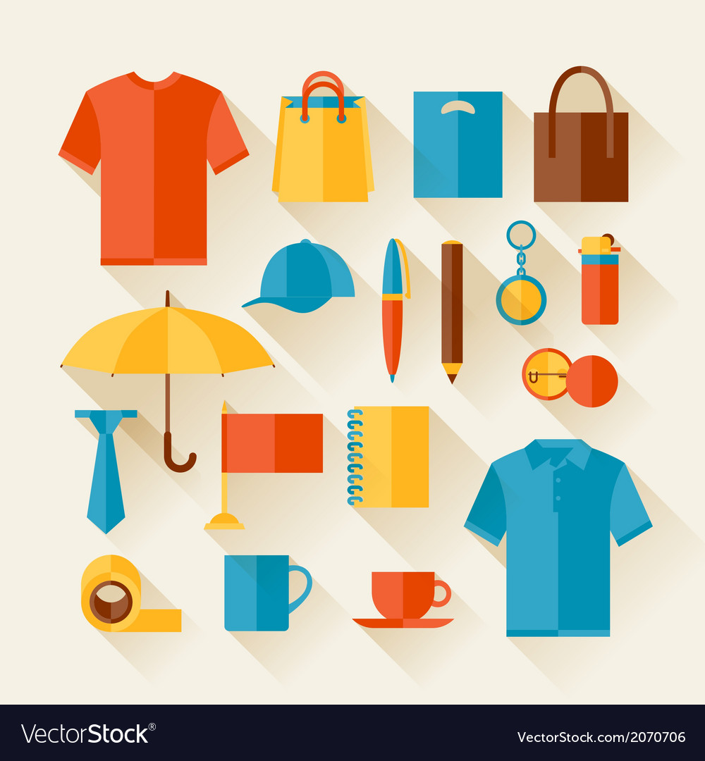 Icon set of promotional gifts and souvenirs vector | Price: 1 Credit (USD $1)