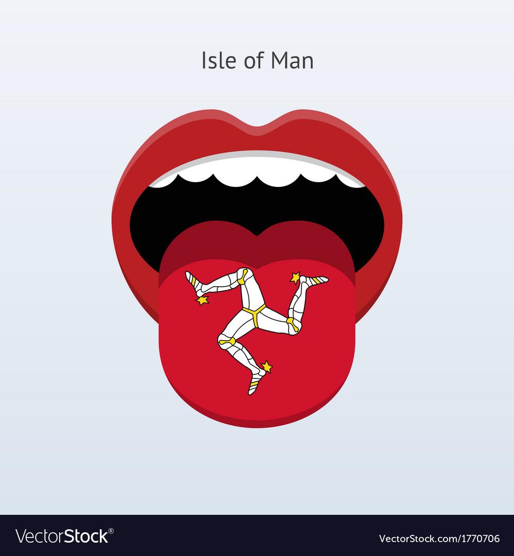 Isle of man language abstract human tongue vector | Price: 1 Credit (USD $1)
