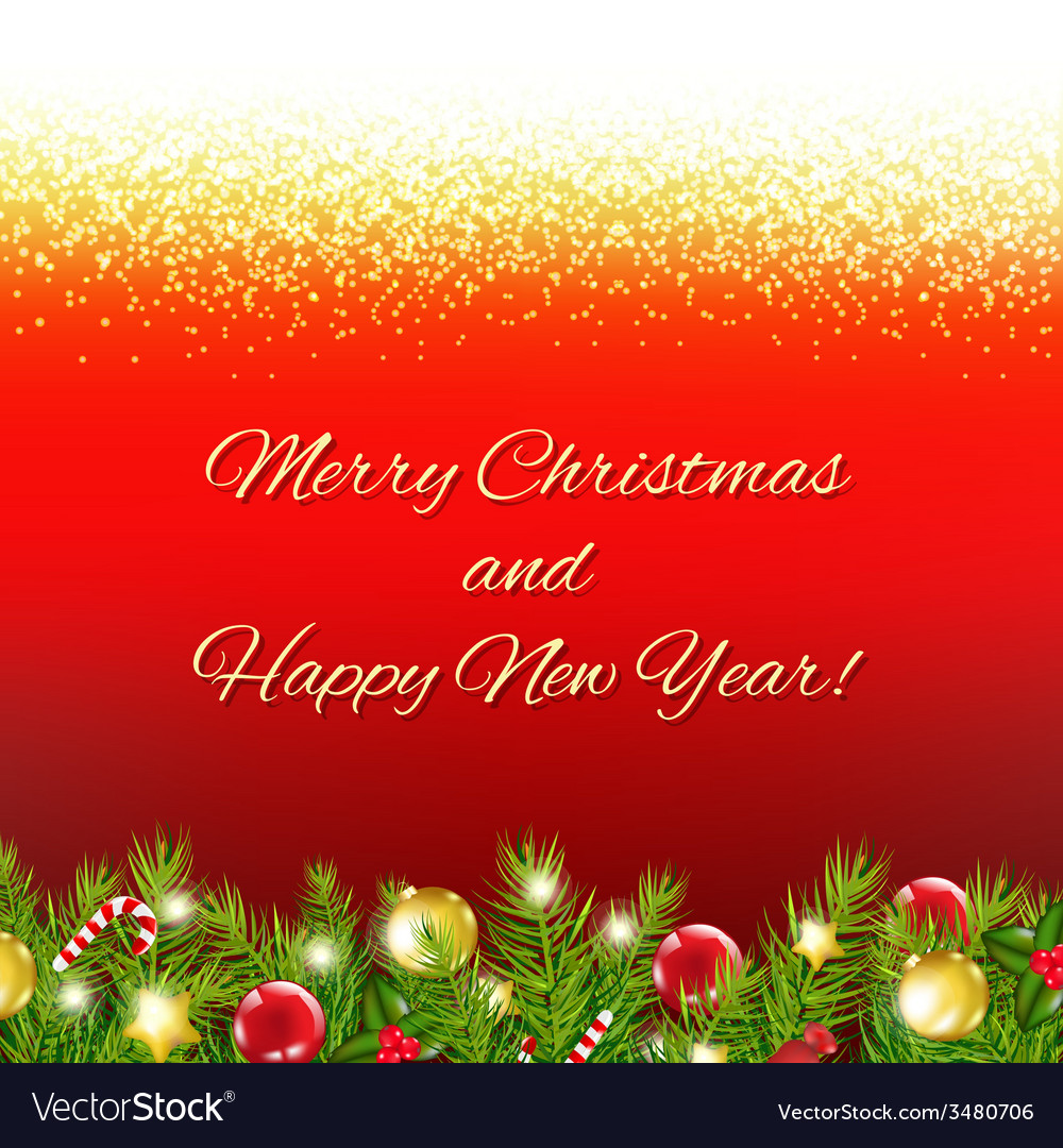 Red christmas card with text vector | Price: 1 Credit (USD $1)