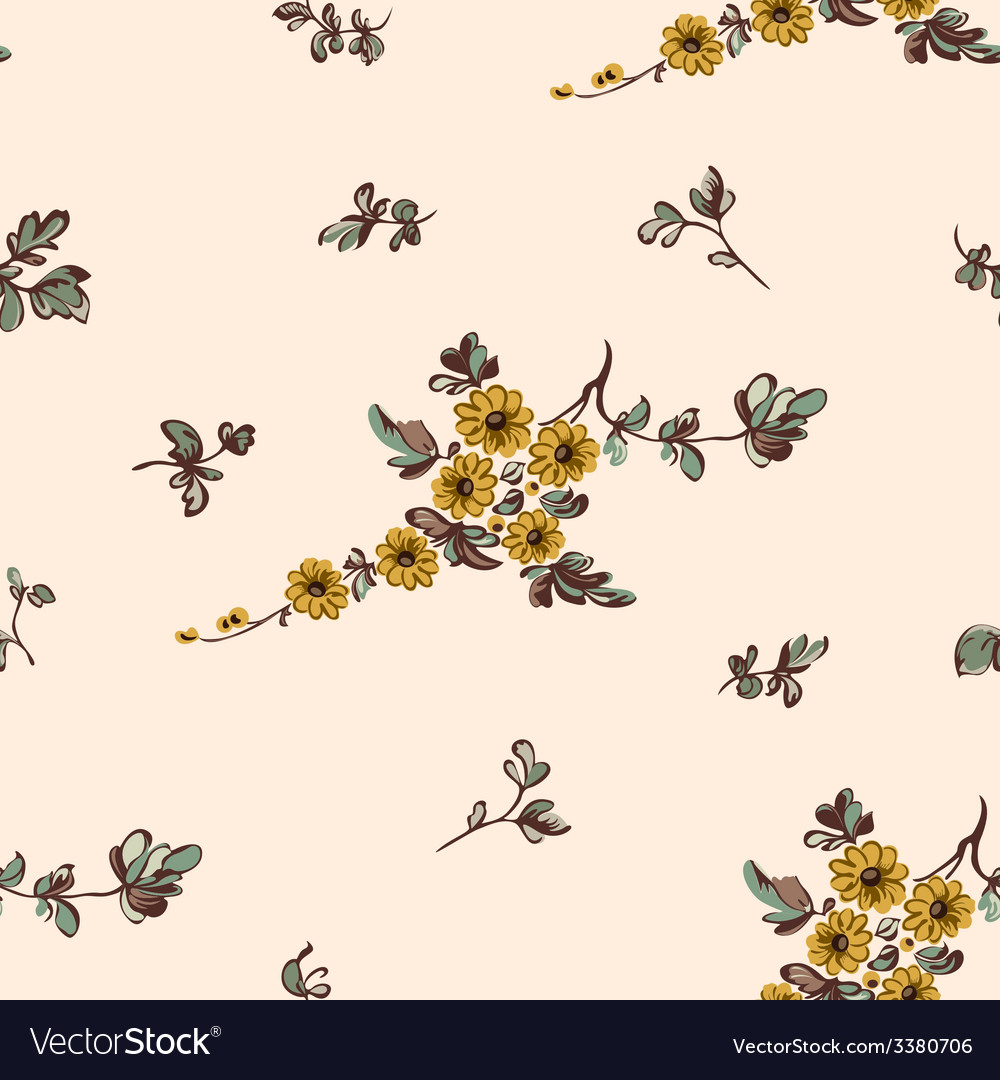Seampless pattern yellow flower vector | Price: 1 Credit (USD $1)