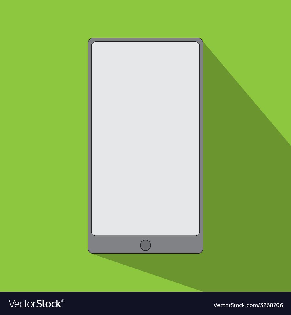 Smartphone icon flat design vector   Price: 1 Credit (USD $1)