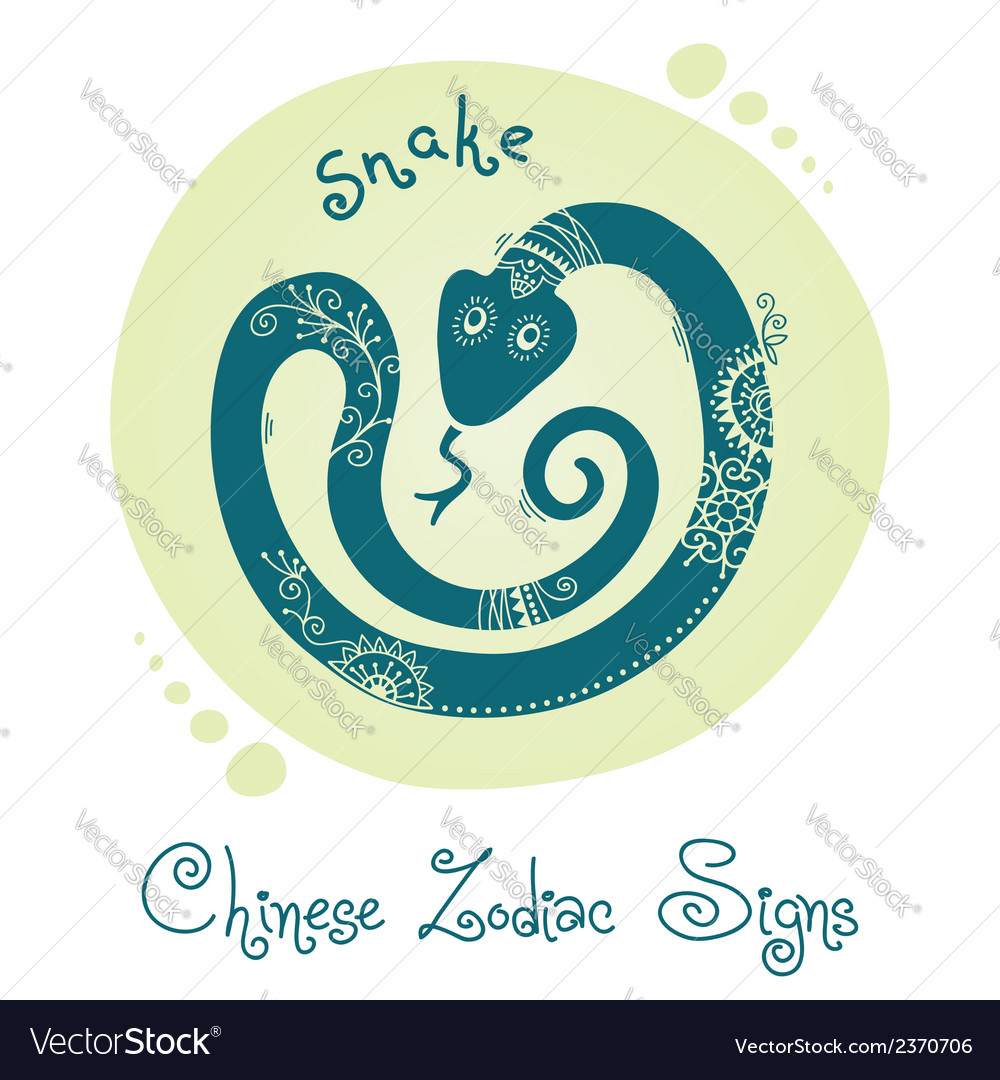 Snake chinese zodiac sign vector | Price: 1 Credit (USD $1)