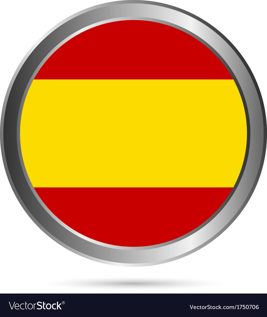 Spain flag button vector | Price: 1 Credit (USD $1)