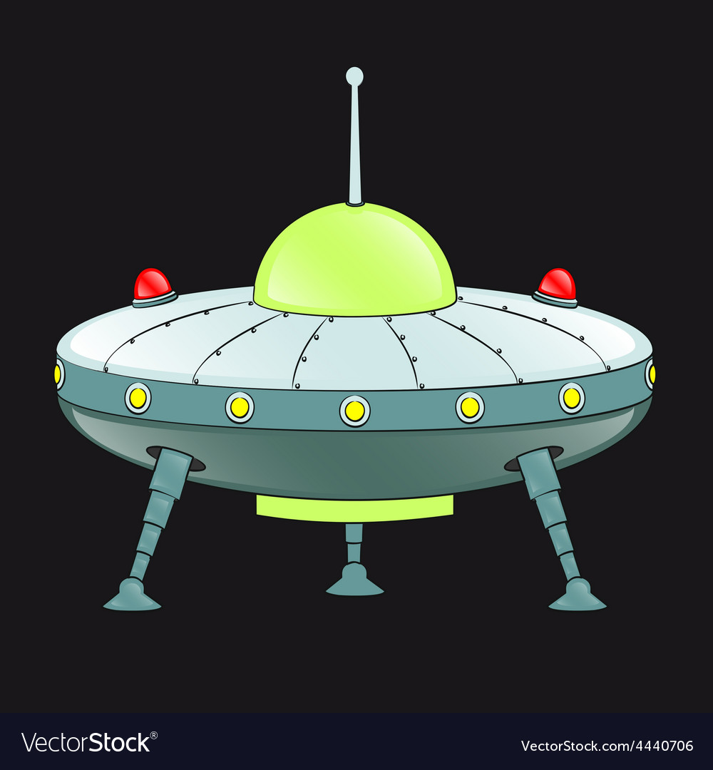 Ufo cartoon vector | Price: 1 Credit (USD $1)