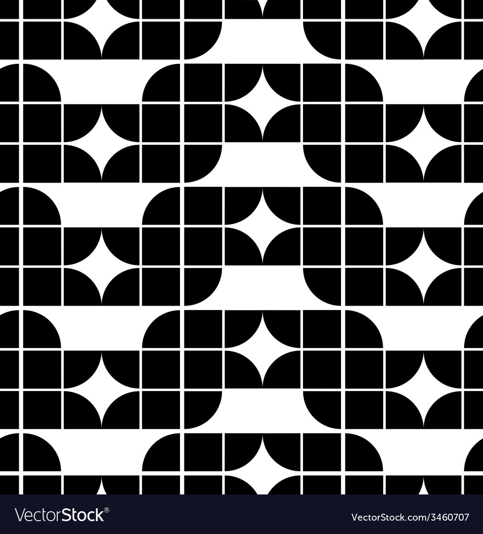 Abstract geometric seamless pattern contrast vector | Price: 1 Credit (USD $1)