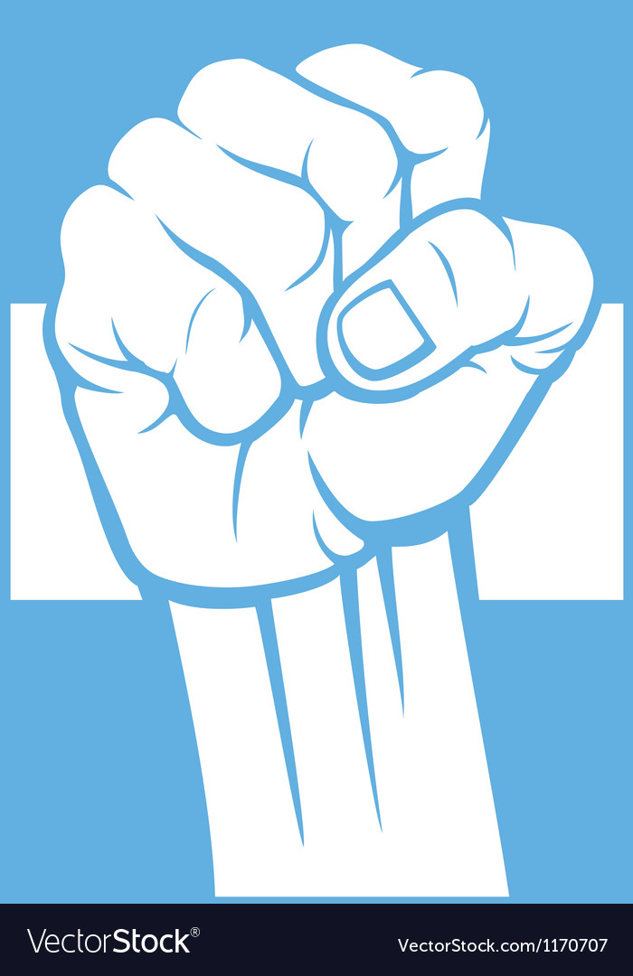 Argentina fist and flag vector | Price: 1 Credit (USD $1)