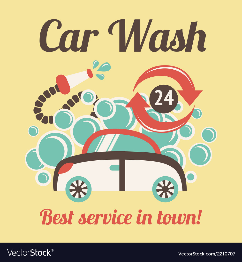 Car wash poster vector | Price: 1 Credit (USD $1)