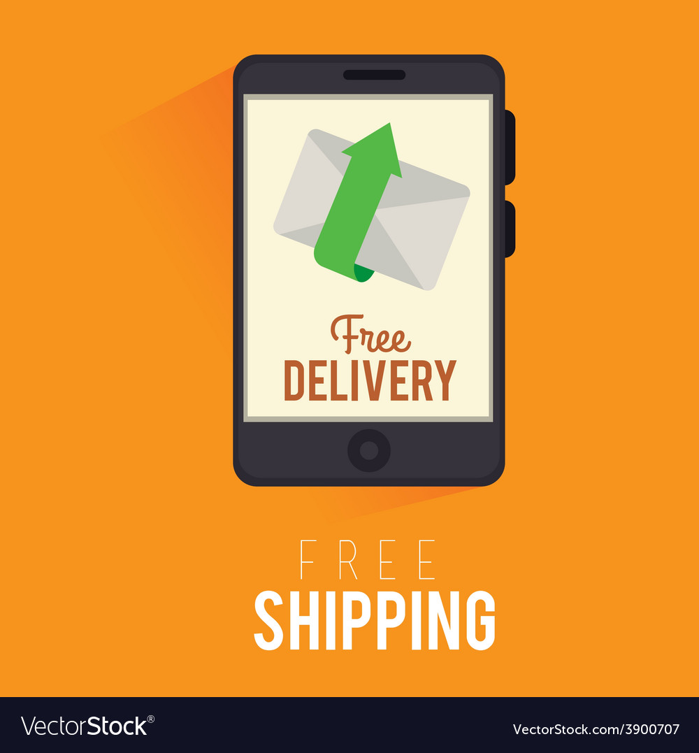 Delivery design over yellow background vector | Price: 1 Credit (USD $1)