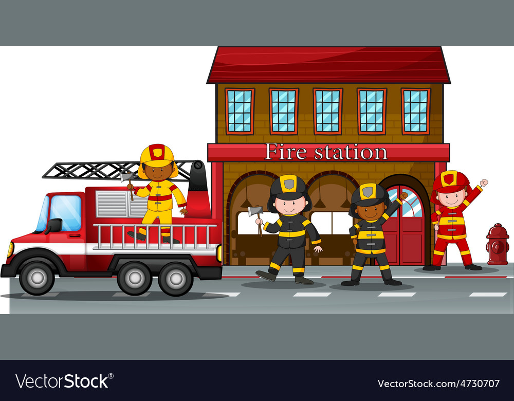 Fire station vector | Price: 3 Credit (USD $3)