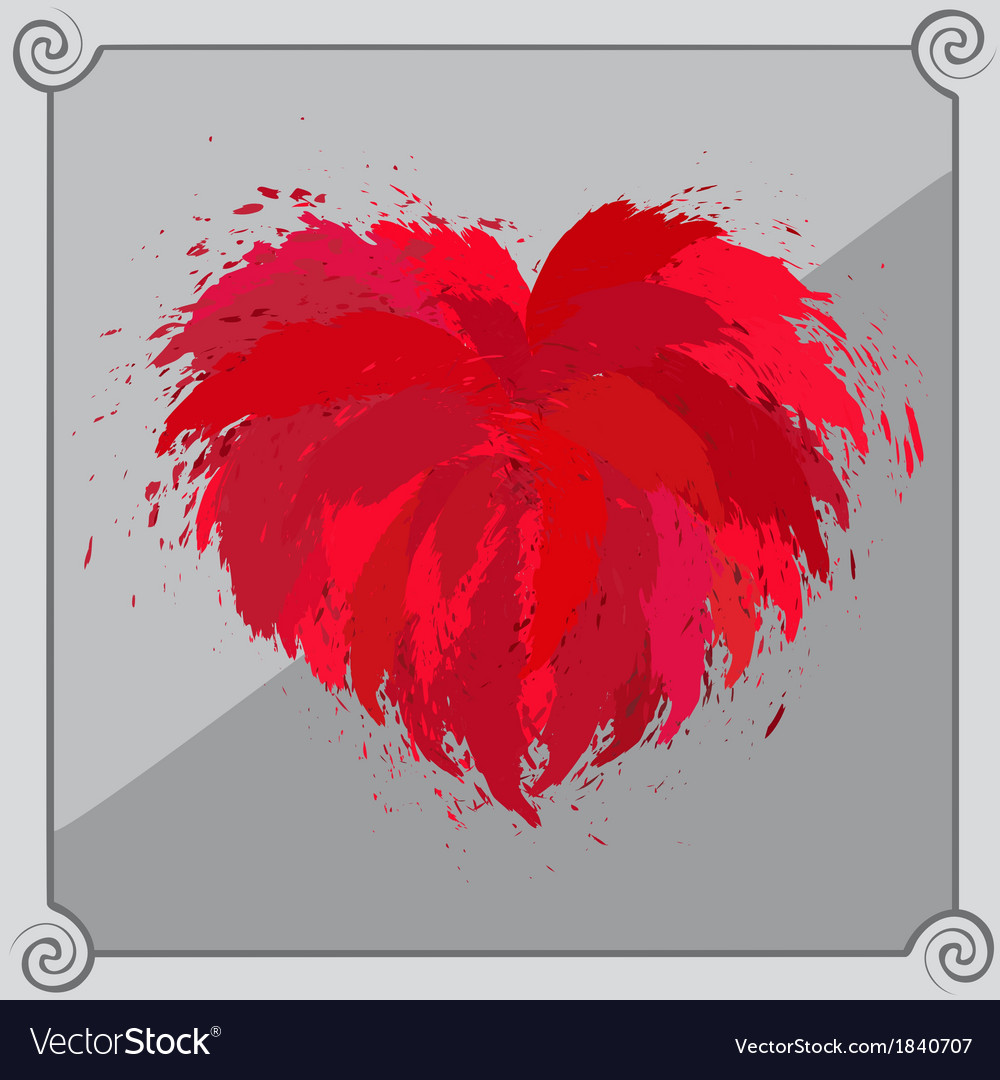 Heart-shaped red object vector | Price: 1 Credit (USD $1)