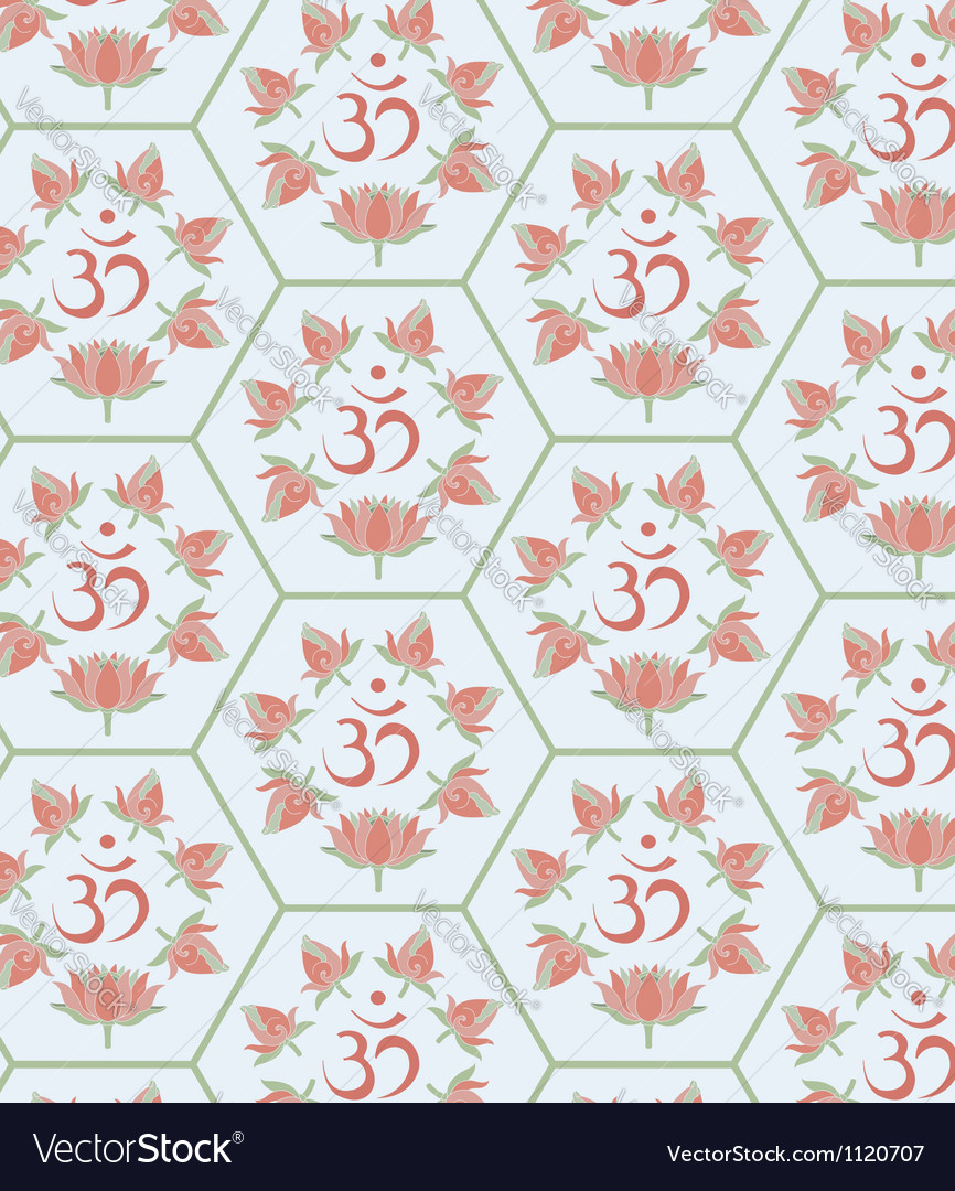 Om seamless vector | Price: 1 Credit (USD $1)