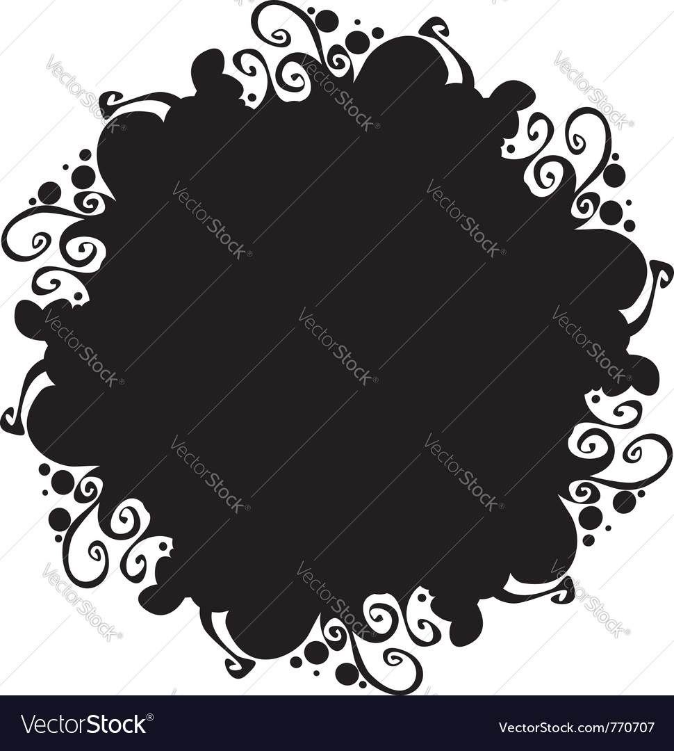 Ornate abstract silhouette vector | Price: 1 Credit (USD $1)
