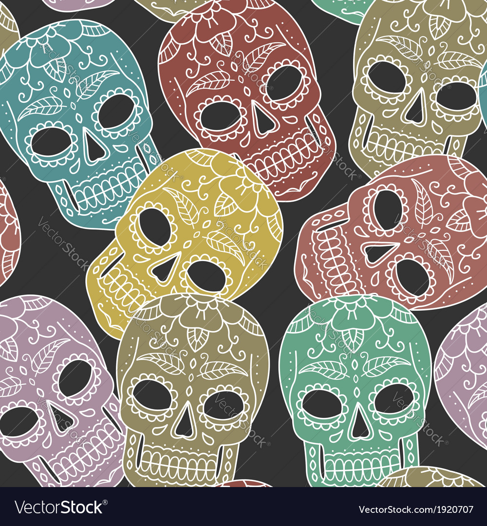 Pattern scull vector | Price: 1 Credit (USD $1)