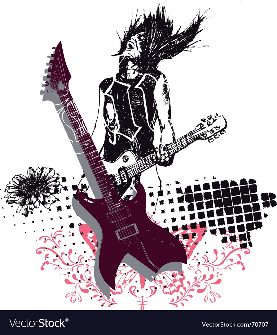 Rock music vector | Price: 1 Credit (USD $1)